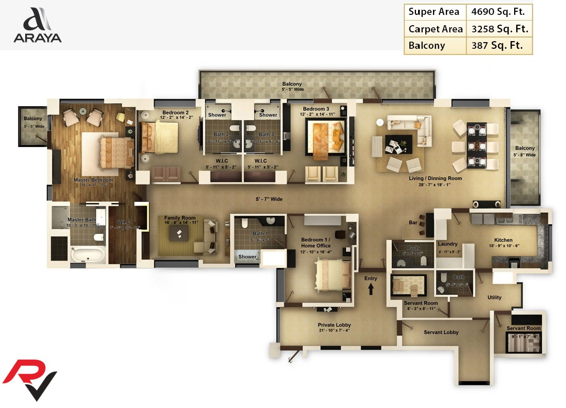 4Bhk + Family Room