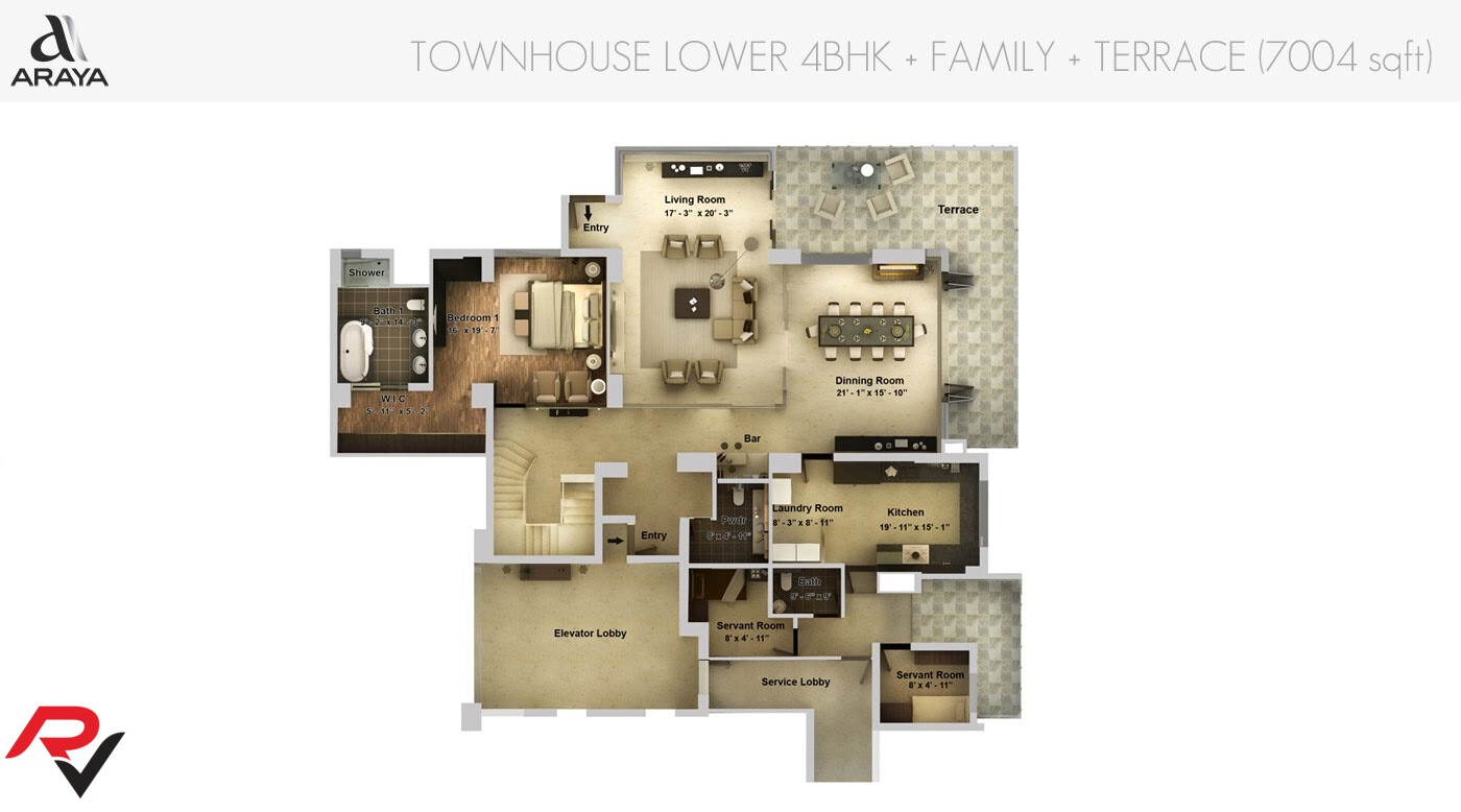 Townhouse Lower Level