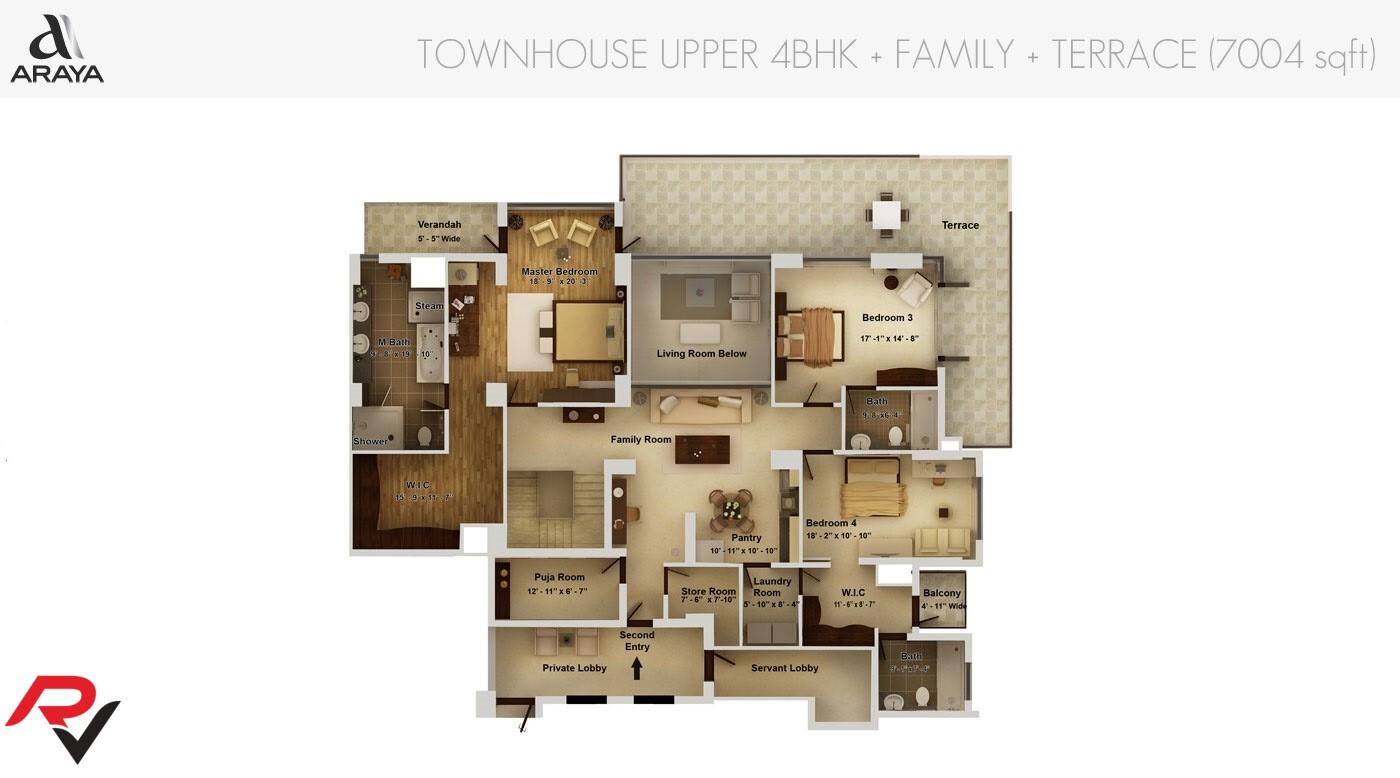 Townhouse Upper Level
