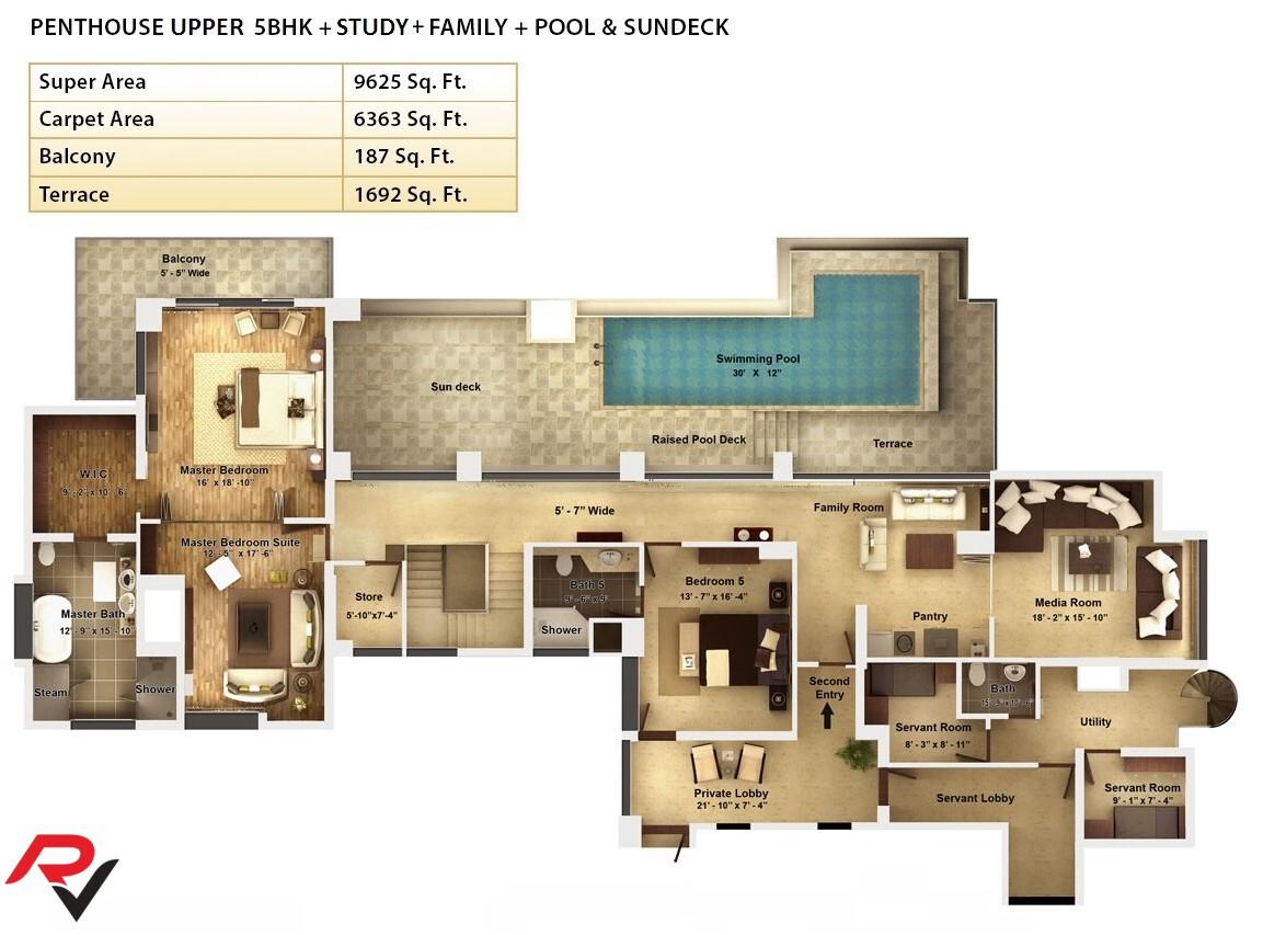 Penthouse Upper Level