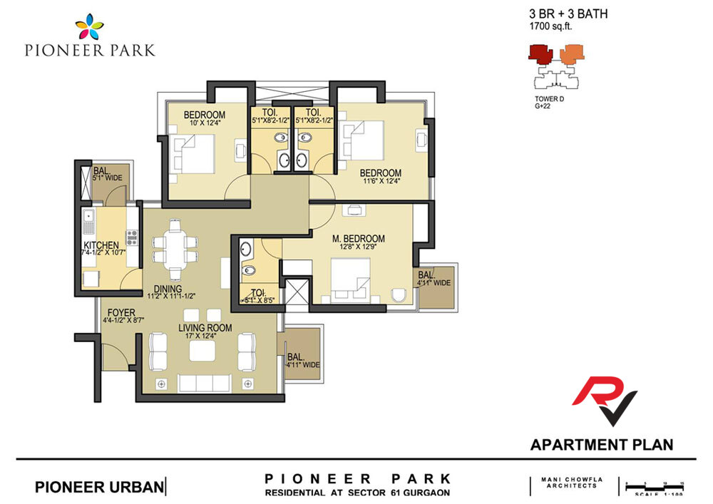 3Bhk (Tower D)