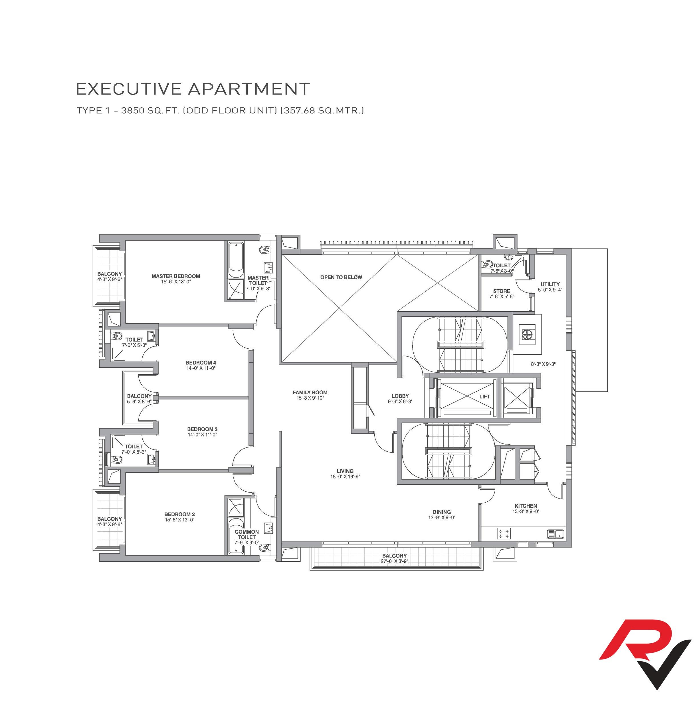 4Bhk + Family Room + Servant Room