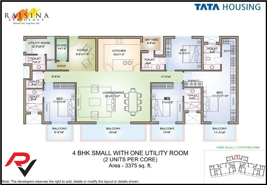 4Bhk Small + Utility Room