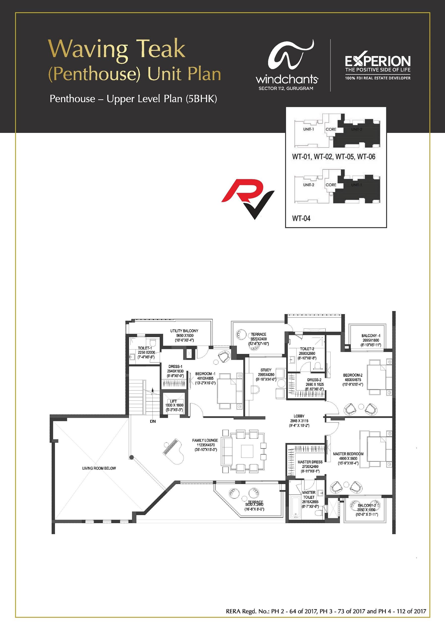 5Bhk Penthouse (Upper Level Plan)