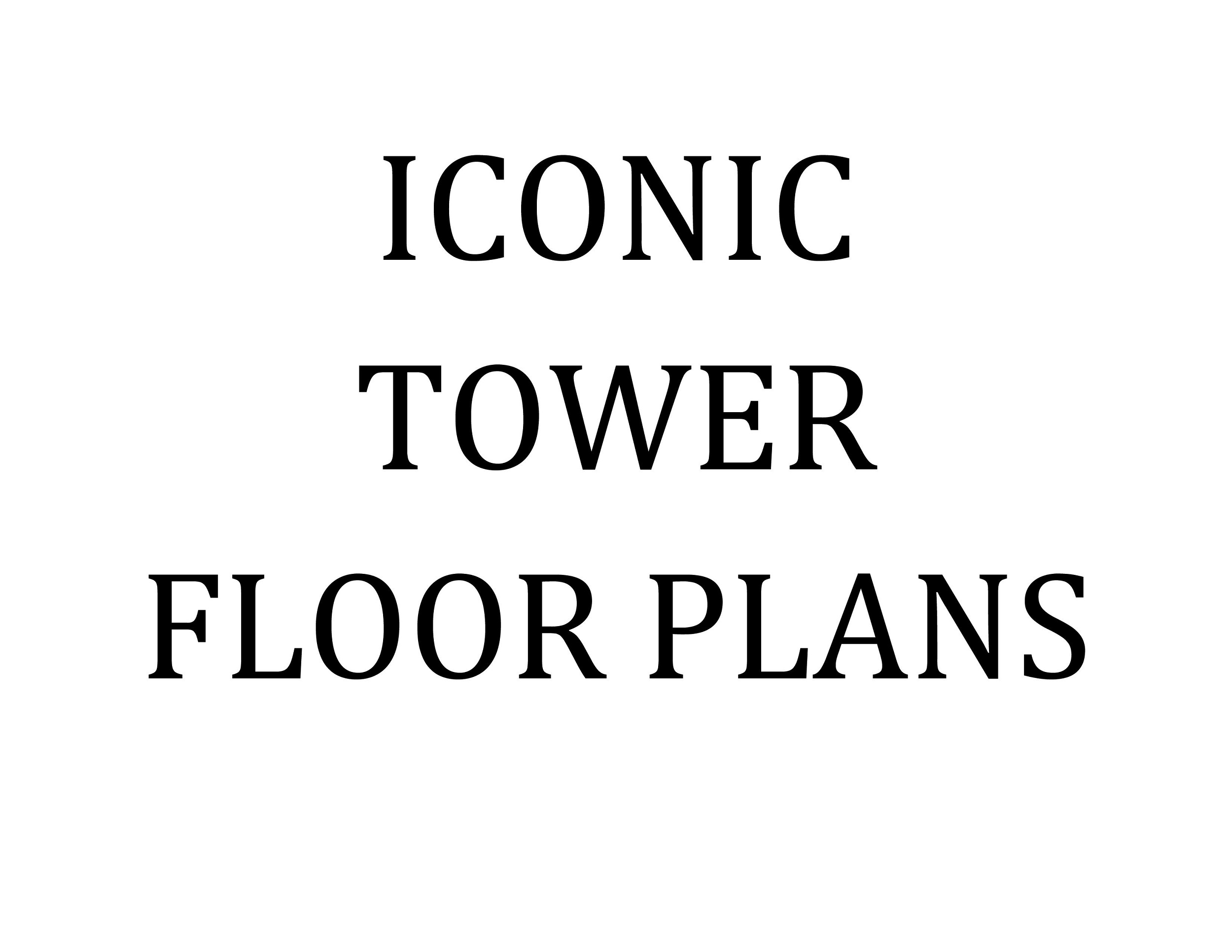 Iconic Tower Floor Plans